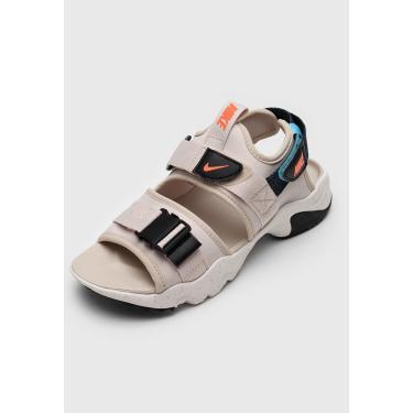 Imagem de Sandália Nike Sportswear City Sandal Bege/Azul-Marinho Nike Sportswear CV5515-004 feminino