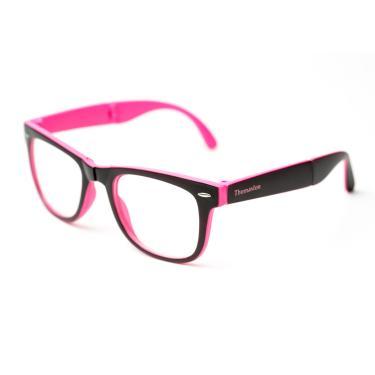 1837db02a49d7 Armação de óculos Thomaston Dobrável Preto e Rosa