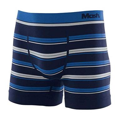 Mash Cueca Boxer Sem Costura, Masculino, Multicor (Marinho/Azul/Cinza), P