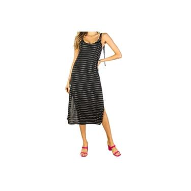 Vestido Feminino Beagle Midi Listrado - 0495