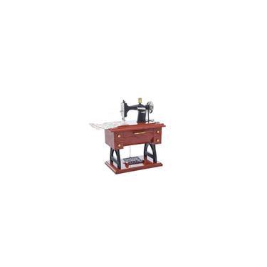 Imagem de Máquina de costura antiga elegante Music Box Retro Wood-Like Music Box Decoração