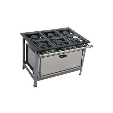 Imagem de Fogão 6 bocas 30x30 Super Forno Dual Chef Metalmaq