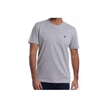 b5c975ef973 Camiseta Masculina Ox Horns Básica Cinza Mescla 8004