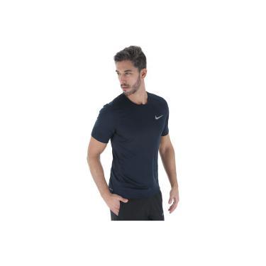 Camiseta Nike Dry Miler Top - Masculina - AZUL ESC CINZA Nike 9c56f71428333