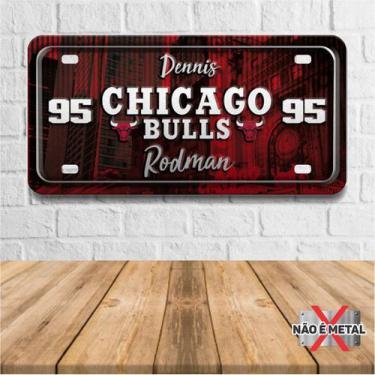 Imagem de Placa De Carro Decorativa Tema Nba -  Chicago Bulls Rodman Pdc-038 - P