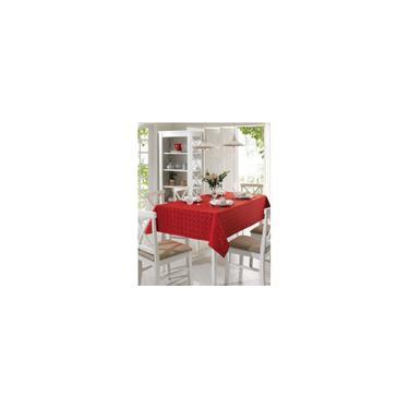 Imagem de Toalha de mesa retangular 8 lugares requinte vermelho - dohler