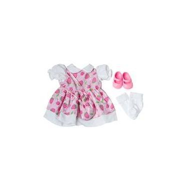 Imagem de Roupa Para Boneca - Kit Luxo Moranguinho Adora Doll - Laço De Fita
