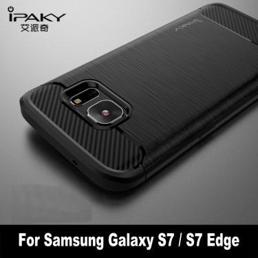 Capa à prova de choque de silicone ipaky, capa para samsung galaxy s7 s 7 s7edge 4gb 32gb/64gb g9300