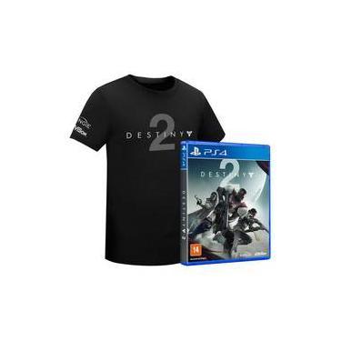 Jogo Destiny 2 Ps4 + Camiseta Tamanho Único S/dlc
