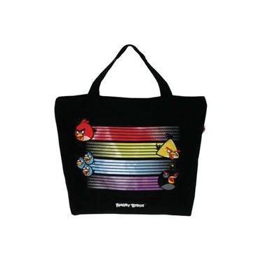 Bolsa Shopping Bag/tote Angry Birds 1bolso Preto Santino