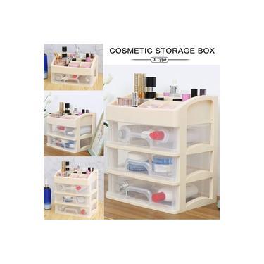 Organizador de cosméticos de joias 1/2/3 camadas gaveta caixa de maquiagem estojo de armazenamento