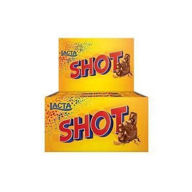 Chocolate em Barra Shot 20g - 20 unidades - Lacta
