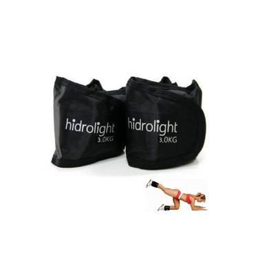 Imagem de Caneleira 3kg Tornozeleira Peso Academia Exercícios Ginástica Hidrolight Pernas Glúteos Par