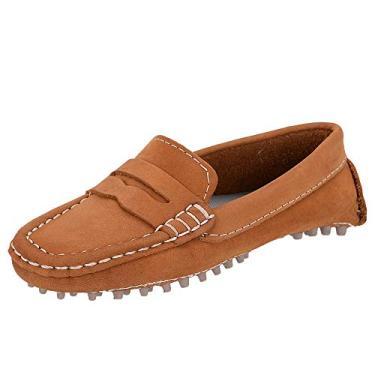 Sapato Mocassim Infantil Masculino Couro Selten Caramelo 29, Caramelo