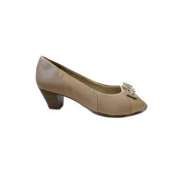 3f75b028c2 Sapato Peep Toe Couro Conforto L5352 Campesi(02)