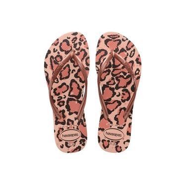 Imagem de Chinelo Havaianas Slim Animals Feminina - 7003348 Rosa Ballet