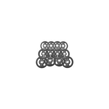 Imagem de Kit 24Kg com 12 Anilhas de Ferro Fundido