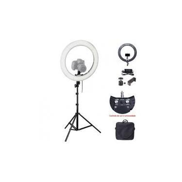 Iluminador Ring Light Led com Tripé - 35cm - Controle Cor Luminosidade - Leadwin