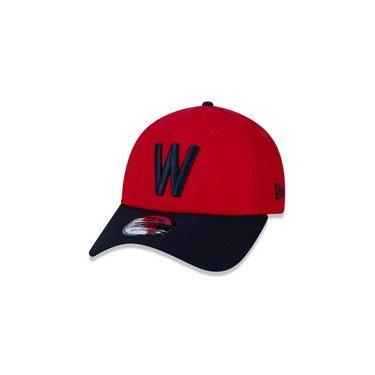 Bone 9Forty Aba Curva Ajustavel Mlb Washington Senators Aba Curva Snapback Vermelho New Era