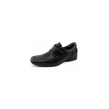 Sapato Social Infantil Velcro Preto Finobel Preto 33