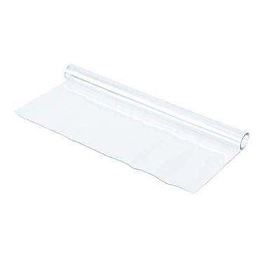 Imagem de Cabilock Toalha de mesa 1 peça 140 x 80 cm PVC toalha de mesa de vidro macio à prova d'água transparente à prova de óleo para sala de jantar