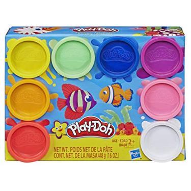 Imagem de Brinquedo Conjunto Massinha Playdoh com 8 Potes Clássicos. Para crianças acima de 2 anos - E5062 - Hasbro