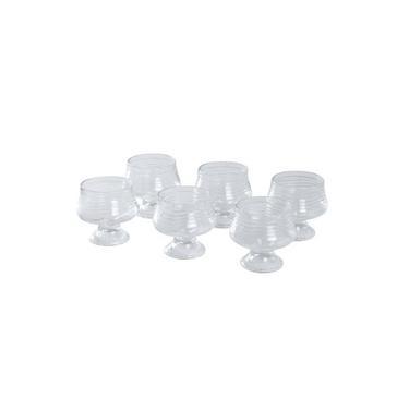 Conjunto 6 Taças De Vidro Sobremesa 250ml Crystal