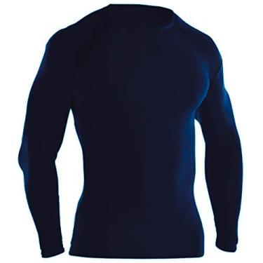 Camisa Térmica Proteção UV Ayron Fitness Manga Longa (M, Marinho)
