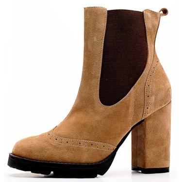 Bota The Box Project Pleasure Caramelo  feminino