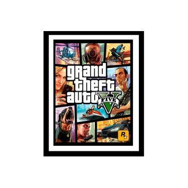 Quadro Com Vidro Gta 5 Jogo Grand Theft Auto 40x60 Cm
