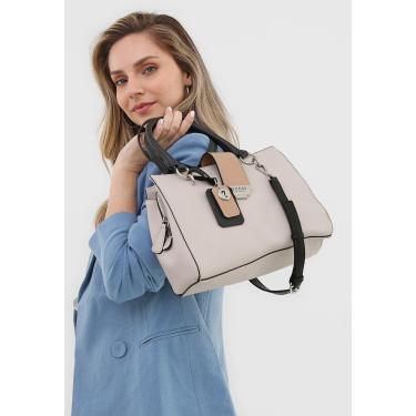 Bolsa Guess Galvin Gf Off-White/Bege Guess VY754206 feminino