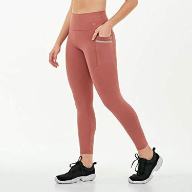 Calça Legging Alto Giro Hyper Com Laser Lateral Rosa 2111347 Tamanho:G;Cor:Rosa