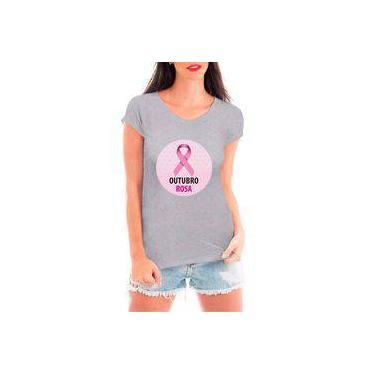 Camiseta Blusa T shirt Bata Criativa Urbana Outubro Rosa Prevenção Câncer  Mulher 6b88ca6fc78f2