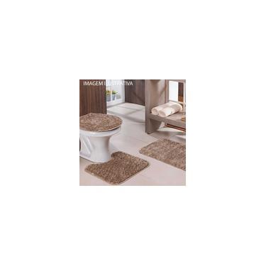 Imagem de Jogo de tapete para banheiro Classic 3 peças Trigo Bege
