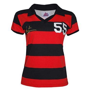 Camisa Liga Retrô Evaristo de Macedo 1955 Feminino (Ex jogador Flamengo e Madureira)