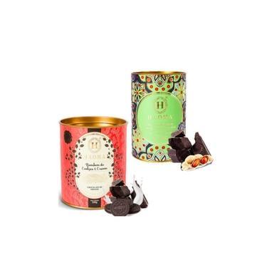 Kit 2 Latas Bombom Chocolate Belga Paçoca E Cookies