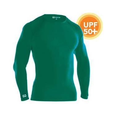 Camisa De Compressão Térmica Marra 10 Pro Proteção Solar Manga Longa - Verde