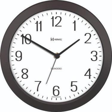 Relógio de Parede Silencioso Herweg Preto e Branco