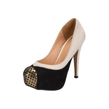 Sapato Mandi Bico Dourado