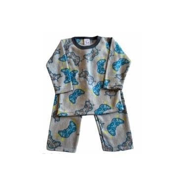 Pijama Infantil Soft Estampado Menino Game Cinza
