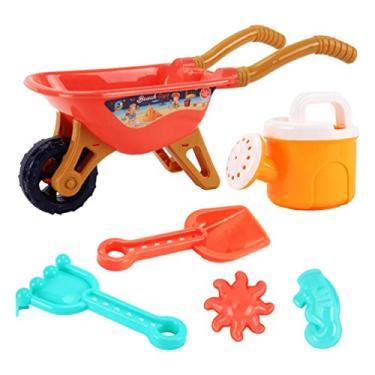 Imagem de TOYANDONA 6Pcs Crianças Praia Brinquedos Set Com Carrinho de Brinquedo Praia de Areia Areia Ancinho Pás De Areia Regador Molde de Areia Caixa de Areia Brinquedos para As Crianças