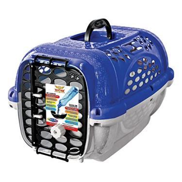 Caixa Transporte Panther Pop N.1 Azul Plast Pet para Cães