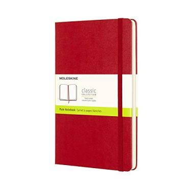 Caderno Clássico Capa Dura, Moleskine, 21x13cm Grande, Vermelho