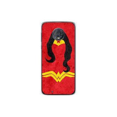 Capa para Moto G6 - Mulher Maravilha | Desenho