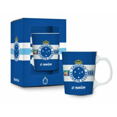 Caneca Porcelana Premium Cruzeiro Azul 280ml Presente cb0b46222c83a