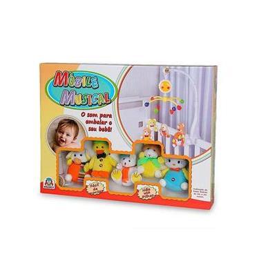 Imagem de Móbile misto bichinhos de pelúcia braskit brinquedos