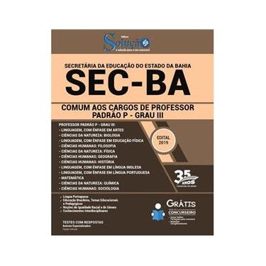 Imagem de Apostila Concurso Sec Ba - Professor Padrão P - Grau Iii
