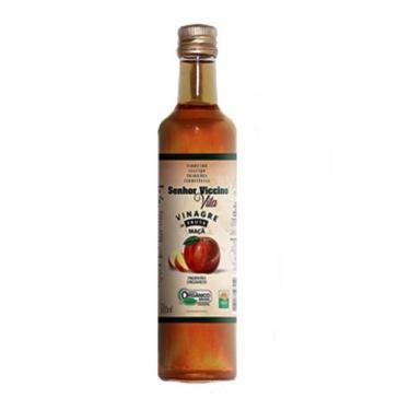 Vinagre De Maçã Orgânico 500 Ml Senhor Viccino 100 Natural