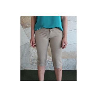 Calça Jeans Feminina Corsário Marrom Scalon Jane 165015