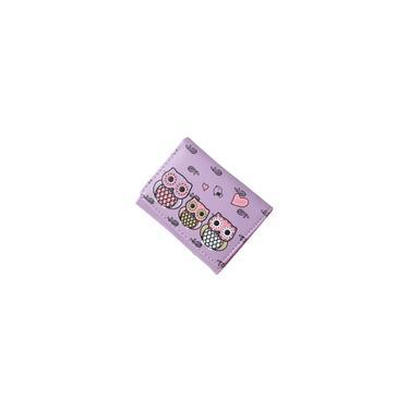 Águia Imprimir curto carteira Coin Purse Card Case Bolsa Roxo